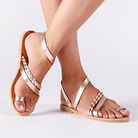 Casual Flat Heel Slip On Sandals  Shoes