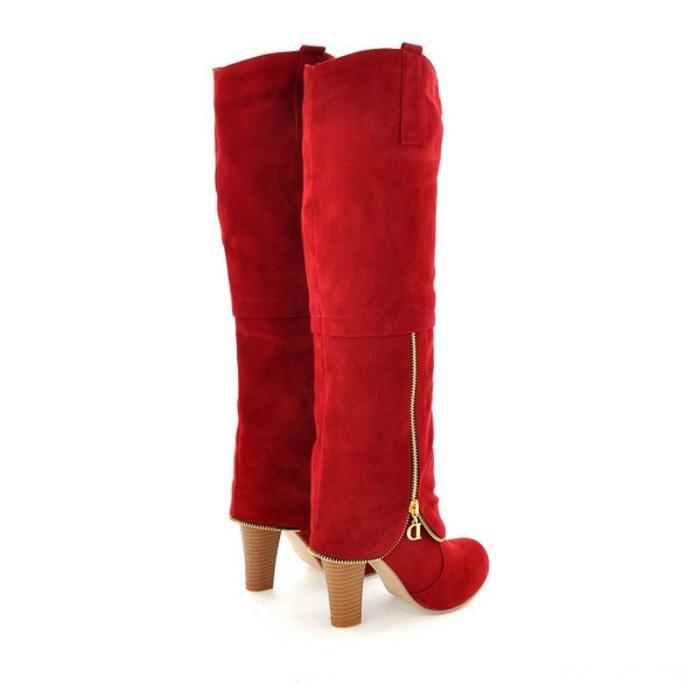 High Heels Long Flock Winter Knee High Boots