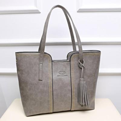 Big Leather  Crossbody Woman Handbags With Tassel
