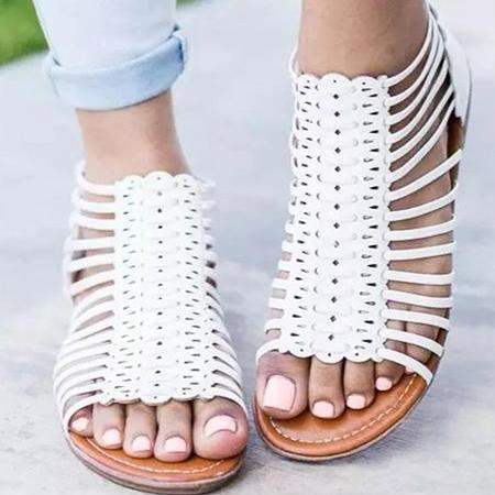 Fashion Pants Bandage Sandals Zipper Closure