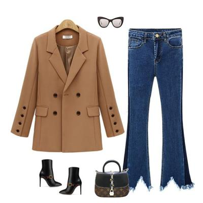 Women's Jacket Wild Loose Long Section Suits Coat