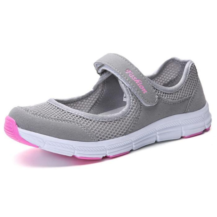 Flat  Mesh  Round Toe Woman Casual Sneakers