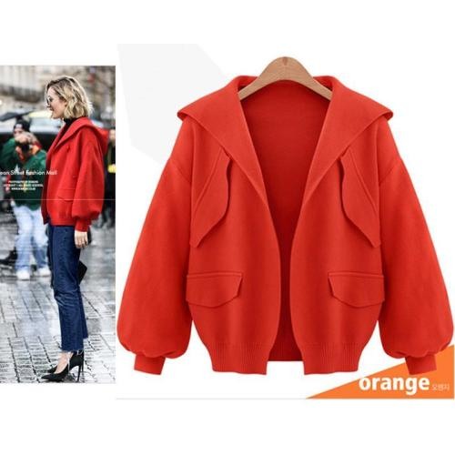 Hooded Simple Fashion Cardigan Coat