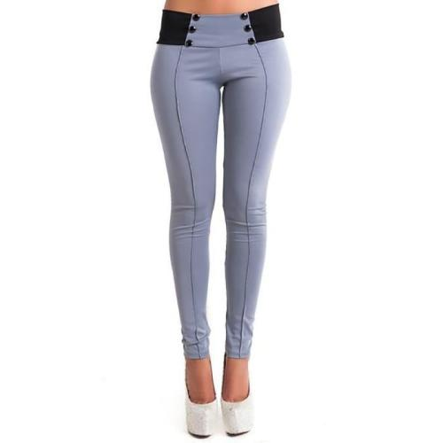 Fashion Pure Color Slim Pencil Pants
