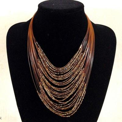 African Beads Multiplayer Statement Necklaces