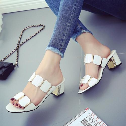 Elegant Thick Heels women  Sandals