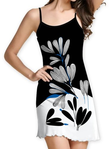 Floral Sleeveless Casual Dress Sundress For Woman