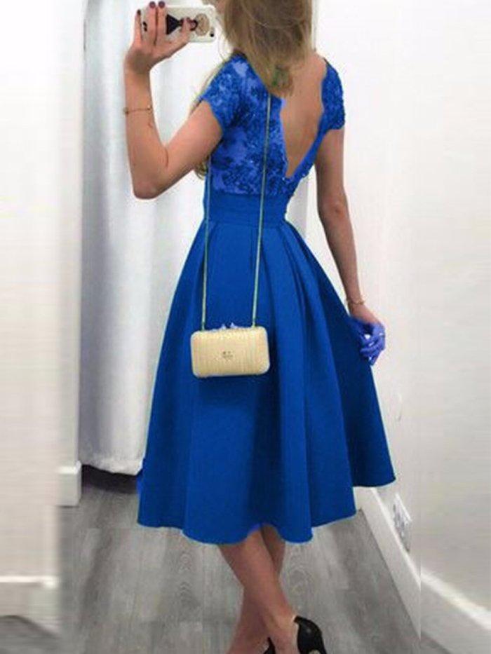 Stitching Sexy Halter Wedding Dress Evening Dress