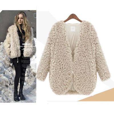 Women's Warm Lamb Coat Short Jacket