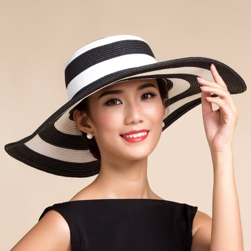 Dark Blue Polyester Elegant Hat