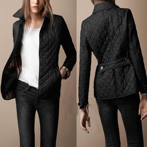 Lapel Single Breasted Slim Warm Cotton Clothin Coat