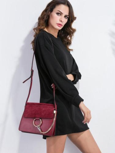 Drop Shoulder Sweatshirt Dress BLACK