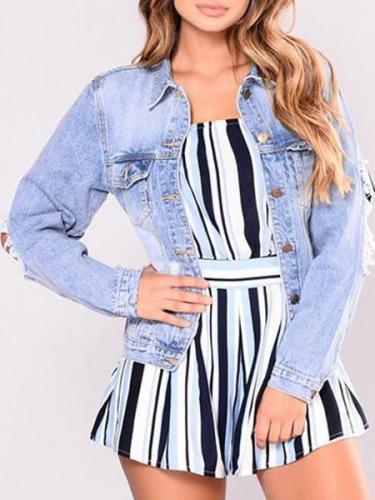 Fashion Over Plus Denim Short Outwear