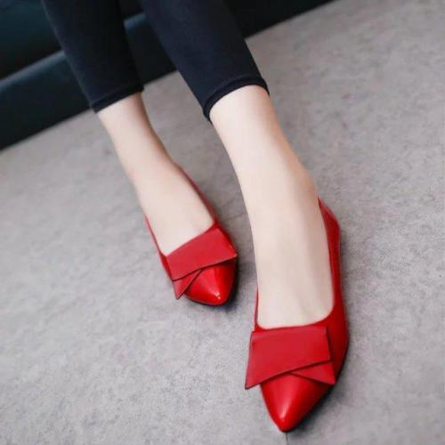 Woman Butterfly Breathable Slip-On Soft Dress Flats