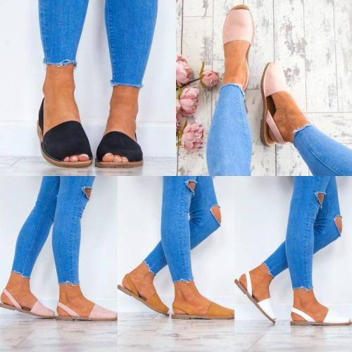 Colors Slip on Espadrilles Flip Flop Sandals
