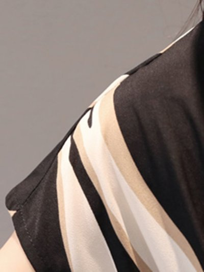 Round Neck  Printed Skater Dress