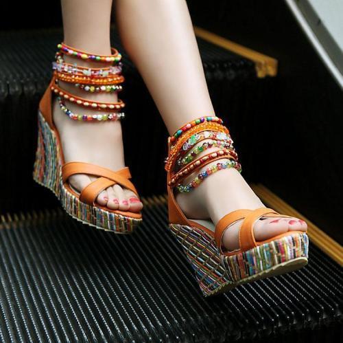 Bohemian Wedge women Sandals