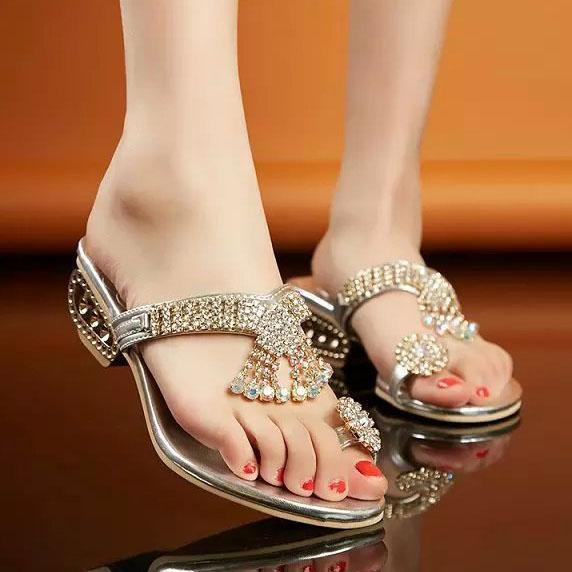 Low Heeled  PU  Casual Sandals