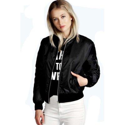 Women's Stand Collar Zipper Jackets Coat Casual Outerwear