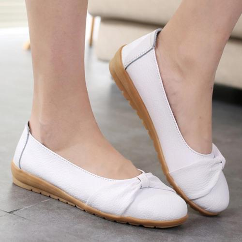 Plain  Low Heeled  Round Toe Woman Flat & Loafers