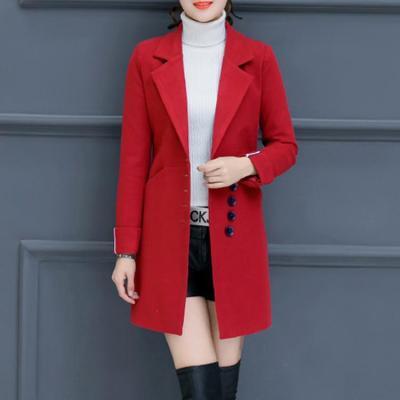 Women's Slim Woolen Coat Outerwear