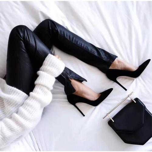 Elegant Women Pumps High Heels Pointed Toe