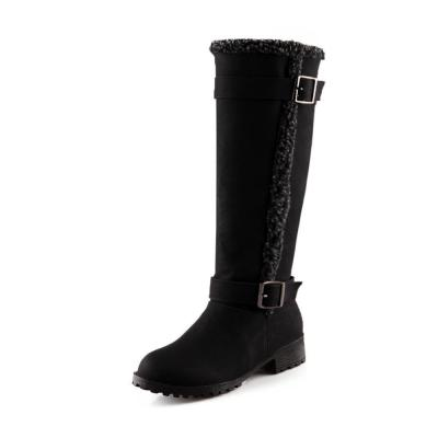 Casual Style Buckle Knight Snow  Boots