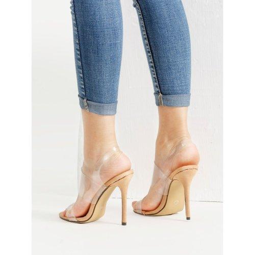 Women Clear Strap Stiletto Sandals