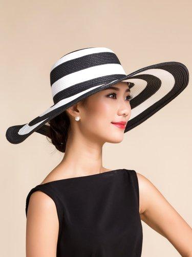 Dark Blue Polyester Elegant Hat