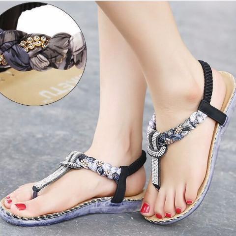 Exquisite Diamond Bohemian National Rhinestone Fashion Sandals