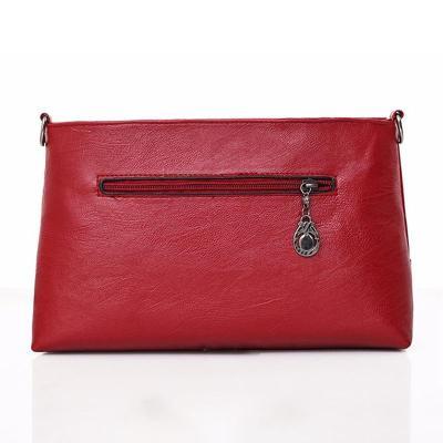 Womens Leather Zipper Casual Crossbody Bags
