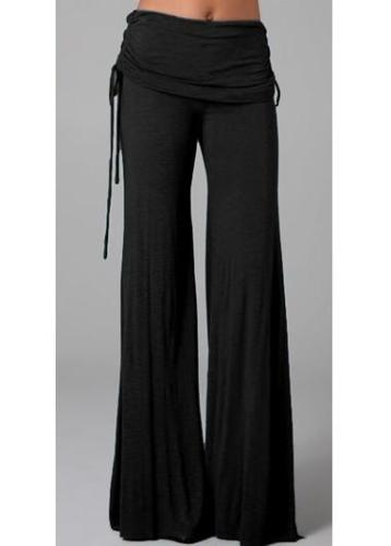Black Boot Cut Pants for Woman