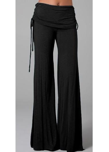 Black Boot Cut Pants for Woman