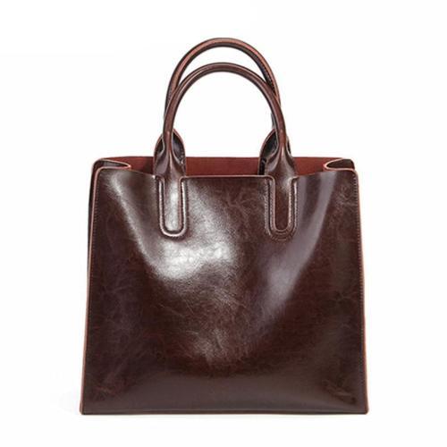 Genuine Leather Tote Handbag Designer Shoulder Bags