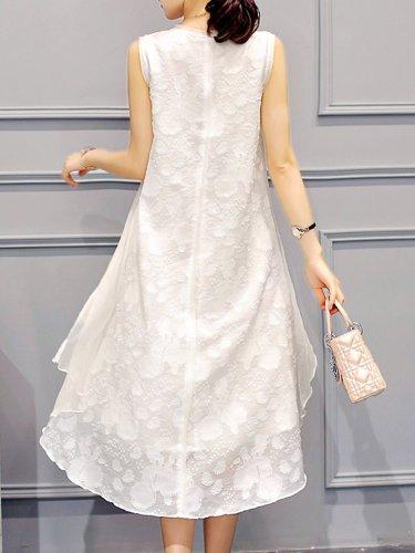 High Low Sleeveless Elegant Dress