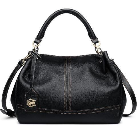 Black Quality Genuine Leather Luxury Shoulder Handbag For Woman