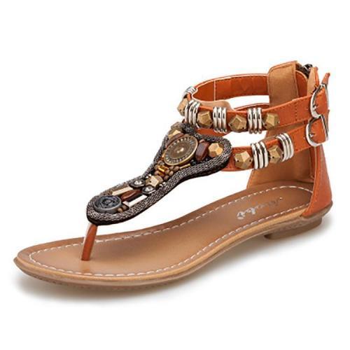 Bohemian  Clip Toe Flat Sandals