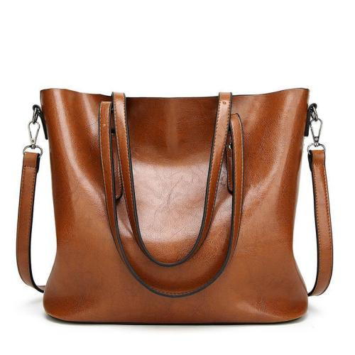 Oil Wax Leather Retro Vintage Style Crossbody Bag For Woman