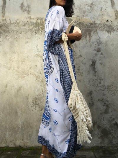 Tribal Printed Half Sleeve Summer Dress