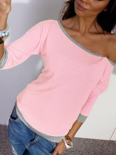 A seven-point round neck candy fluorescent T-shirt