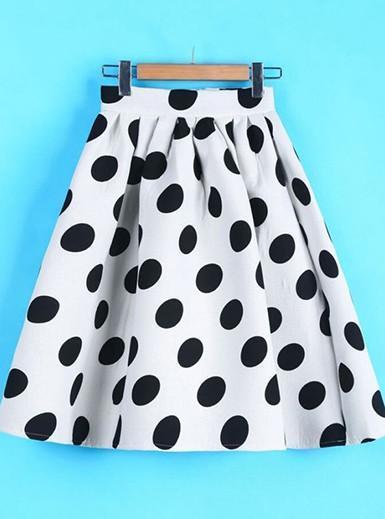 Casual Retro Polka Dot Skirts