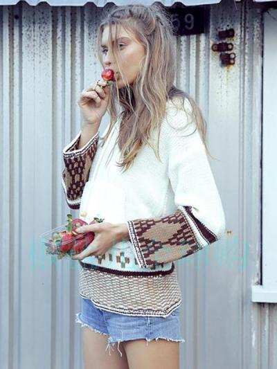 Bohemia Crochetgo Hooded Sweater Tops