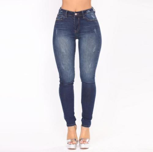 High Waist Elastic Slim Denim Jeans