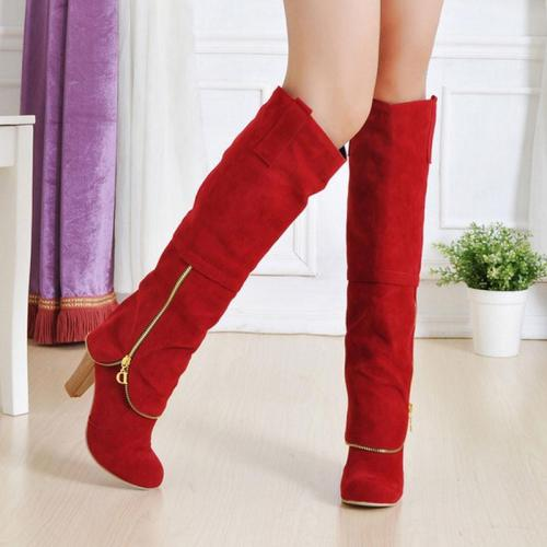 High Heels Long Flock Winter Knee High Boots