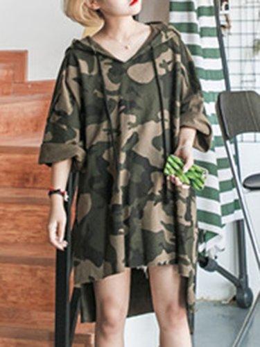 Camouflage  Long Sleeve Hoodies