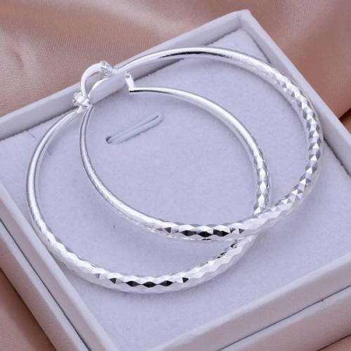 Silver Round Pretty Elegant Earrings