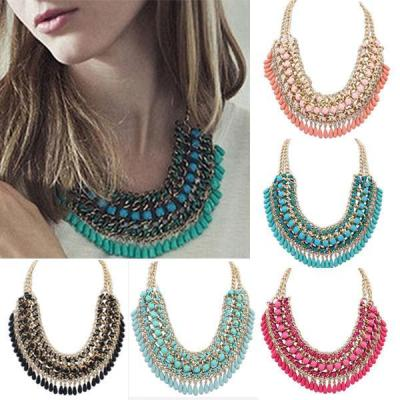Bohemian Tassels Fringe Drop Vintage Weave Multiplayer Collar Choker Necklace