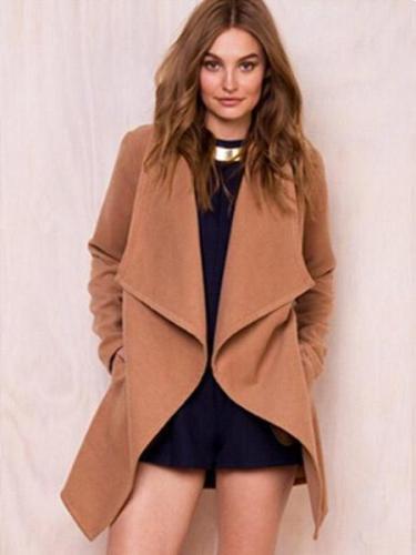 Women's Warm Woolen Coat Outwear