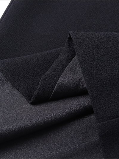 Elegant 3/4 Sleeve Crew Neck Midi Dress