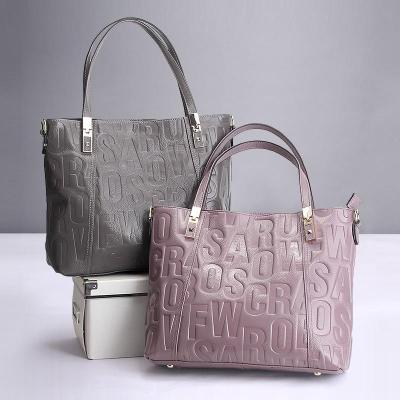 Letter Design Genuine Leather Luxury Handbag